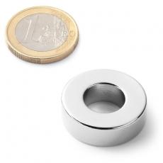 Neodymium ringmagnet 25x12x8  24,25 pound